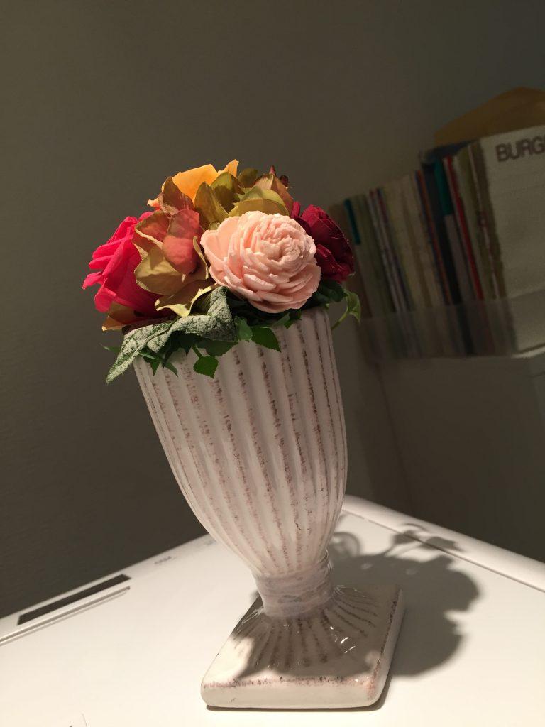 生徒さんからいただいたお花 ブリザーブドフラワー